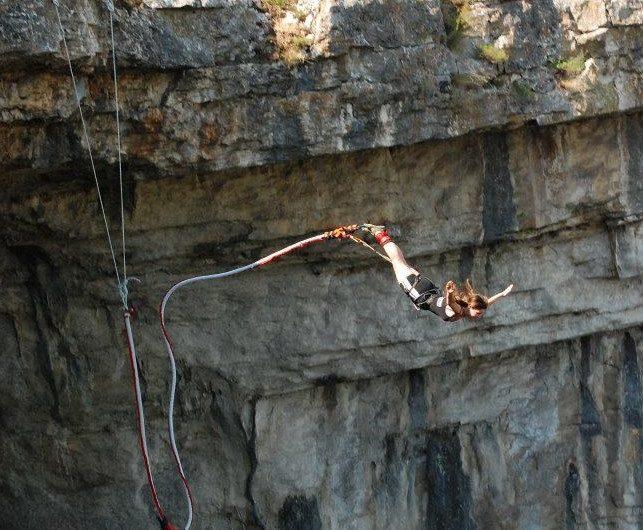 17 aприл - Бънджи скокове от Проходна пещера